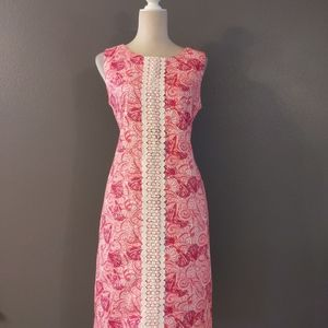Talbots pink seashells dress in size 10